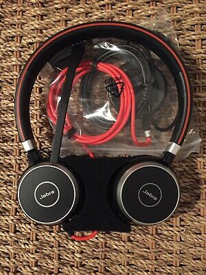 Jabra Evolve 40 Stereo Headset And Case. Includes USB MS Link Control Unit - NEW • 32.50£