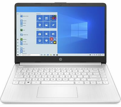 HP 14s-fq0510sa 14  Laptop AMD 3020e 64GB EMMC 4GB RAM Full HD White - Currys • 249£