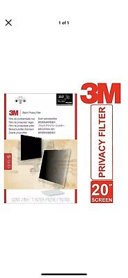 3M Privacy Filter For 20  Monitor Widescreen Desktop PF20.0W9 Touch Sensitiv X 2 • 19.99£
