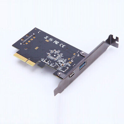 10Gbps PCI-E X2 To USB3.1 Type-C Type-A Adapter Card For Mac Pro 10.9 Expansion • 18.90£