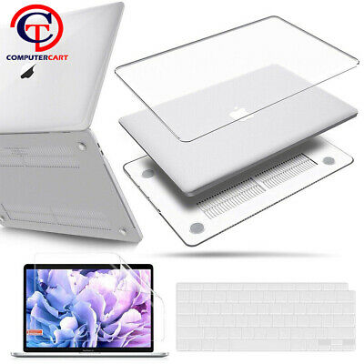 Glossy Clear Case Shell For 2020 MacBook Air 13  A2179 Keyboard Screen Protector • 9.99£