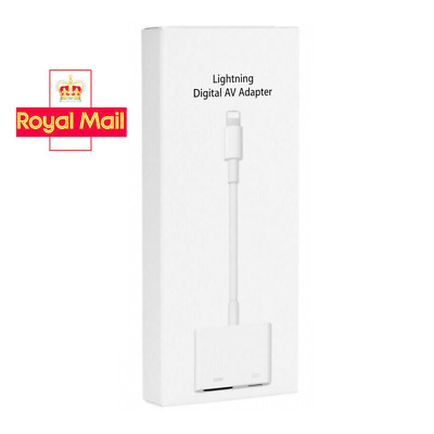 Lightning To HDMI Cable/adapter AV To TV 1080P For Iphone 5/6/7/8/X/11 XR 11pro • 17.99£