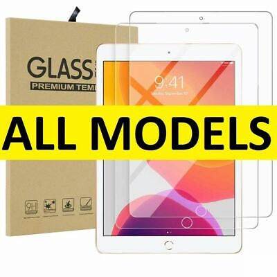 Tempered Glass Film Screen Protector For Apple IPad 1 2 3 4 Mini Air Pro 11 10.2 • 3.90£