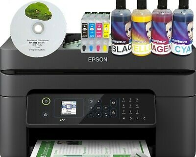 Non Oem Epson WF-2835 A4 Dye Sublimation Printer Ink Paper Cartridge ICC Bundle • 200£