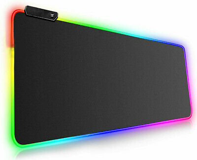 Large RGB Colorful LED Lighting Gaming Mouse Pad Mat 800*300mm For PC Laptop UK • 11.89£