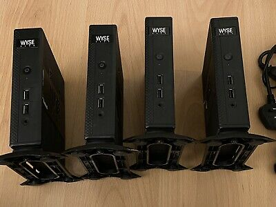 4x WYSE DX0D Thin Client Silent SFF With PSU • 120£