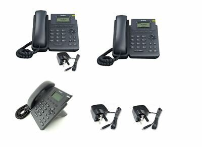 3x - Yealink SIP-T19P E2 HD VoIP IP Phones & Chargers - Nearly New Exc. Cond. • 49.95£