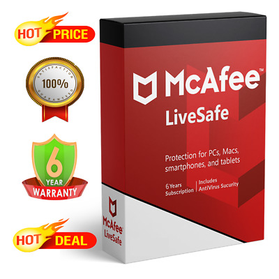 McAfee Livesafe 2020 - 1 Device 6 Years Antivirus - Fast Delivery • 2.90£