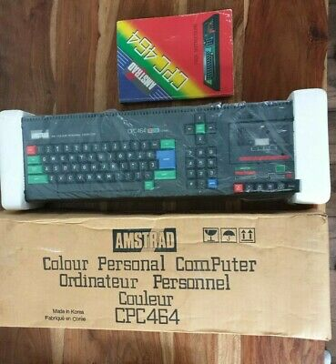 Amstrad CPC 464 - Colour Personal Computer + Original Box, Foam Inserts & Manual • 50£