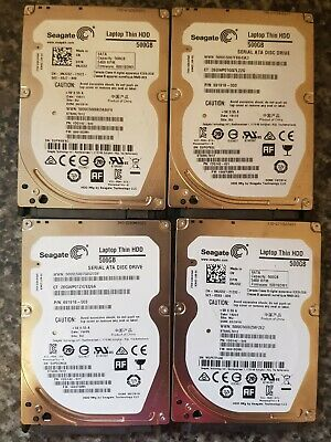 4 X 500gb Seagate Laptop Hdd • 36£