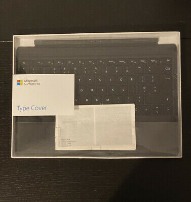 MICROSOFT Surface Pro Typecover UK - Black DAMAGED BOX - Fast And Free Delivery • 74.99£