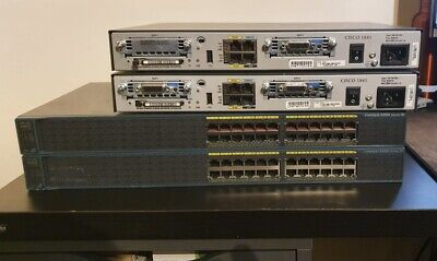CISCO CCNA CCNP LAB ADV KIT 2x 1841 ROUTER 2x 2960 SWITCH DTE DCE CABLES • 72£