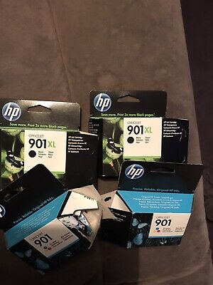 HP 901 For HP Print J4680 Ink Cartridges 1X 901 Black & 1xTri Color Used/Empty • 0.99£
