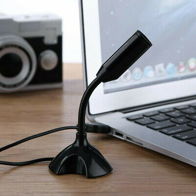 Universal USB Stand Mini Desktop Microphone Mic For PC Desktop Laptop MacBook UK • 6.09£