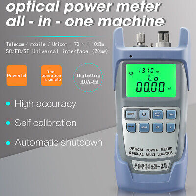 All-IN-ONE Fiber Optic Power Meter -70 To +10dBm And 20mw Visual Fault Locator • 29.99£