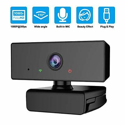 Upgrow Webcam With Microphone, HD 1080P Streaming Webcam For Computer, PC,MAC, • 16.70£