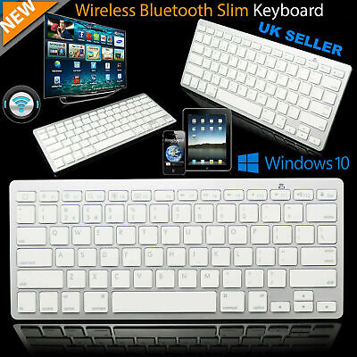 New Slim Wireless Bluetooth Keyboard For Imac Ipad Android Phone Tablet Pc • 7.99£