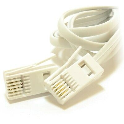 BT 431A Male To Male Fly Lead 1m Telephone Extension Cable • 2.10£