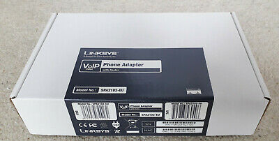 Linksys VoIP Phone Adapter With Router - Model No.: SPA2102 - Brand New • 4.99£