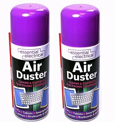 2x Large Air Duster Can Spray Gas Cleaner Compressed Dust Blower Easy Clean Tube • 5.92£