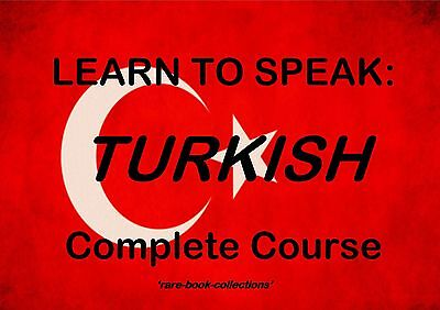 Learn To Speak Turkish - Language Course - 2 Books & 18 Hrs Audio Mp3 All On Dvd • 2.99£