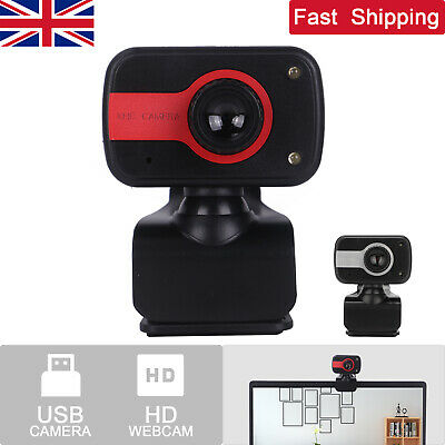 Full HD Webcam Web Camera With Microphone For Desktop Computer Laptop PC UK • 7.59£