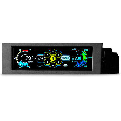 LT_ AM_ EG_ Drive Bay PC Speed Controller LCD Front Panel For Desktop CPU Fan  • 24.41£