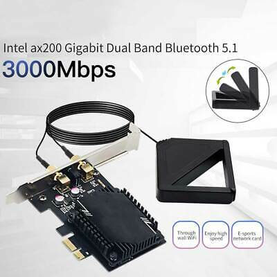 Wireless Network Card Antenna 3000M WiFi6 Pcie Signal Dual Frequency Gaming • 9.95£