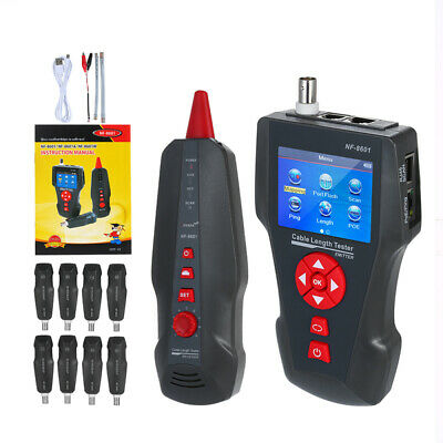 NF-8601W Noyafa Network Line Tracker Cable Finder Tester RJ45 LAN PING/POE Tool • 145.77£