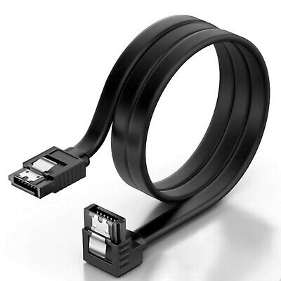 KUYiA SATA Cable III, 35cm Locking Latch Straight To 90 Degree Right Angled D... • 13.67£