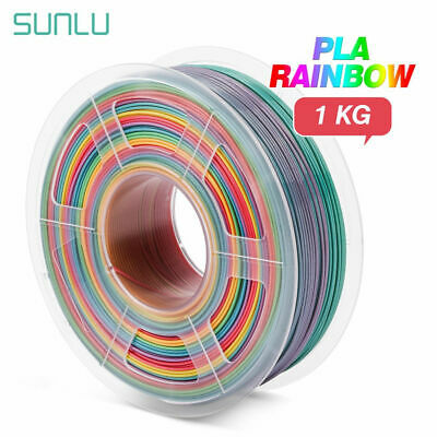 SUNLU 3D Printer Filament PLA Rainbow 1.75mm 1kg/2.2LB Beautiful Color • 21.59£