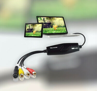 Hi8 VHS To Digital DVD Video Capture Card Converts For Windows Mac-Video Grabber • 17.50£