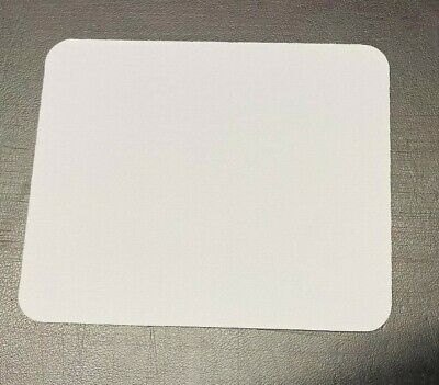 White Fabricated Mouse Mat Pad High Quality 5mm Thick Non Slip Foam 22cm X 18cm • 3.99£