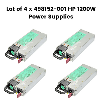 Lot Of 4 X HP 1200W  SILVER  POWER SUPPLY 498152-001 500172-B21 FOR G6/7 • 47.50£