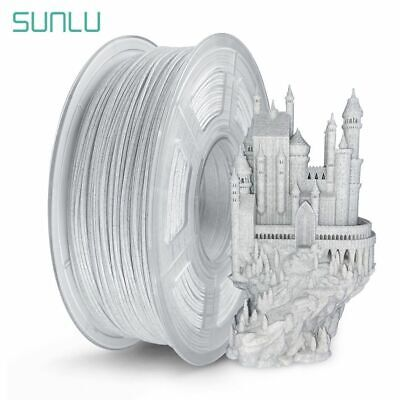 SUNLU 3D Printer Filament PLA Marble 1.75mm 1kg/2.2lb Beautiful Colour No Bubble • 21.59£
