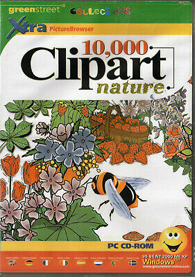 10,000 Clipart Nature Royalty Free Scalable Clip Art In WMF + Browser • 3£