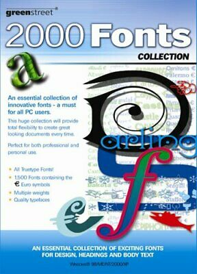 2000 TrueType Fonts (.ttf/.ttc) Scalable Any Windows Systems On CD Plus Manual • 12£