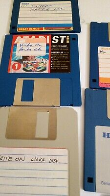 BOX OF 10 DS DD 3.5  COMPUTER DISKETTES Used With Atari  • 3.40£
