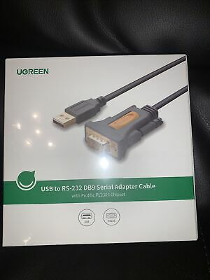 Ugreen 20222 2m USB To RS232 Serial Adapter Cable Brand New Unopened • 13£