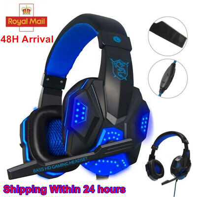 Bass HD 3.5mm Gaming Headset Headphones With Mic For PC Laptop PS4 One Headset  • 10.99£