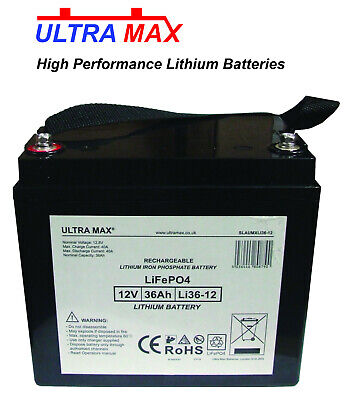 Alpha Technologies 125 12V 36Ah UPS Replacement LITHIUM PHOSPHATE LiFePO Battery • 165.34£