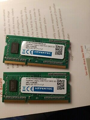 4GB 2 X 2GB DDR3L Memory Laptop  RAM Modules PC3L-12800 1600MHz SODIMM 204 Pin • 7.80£