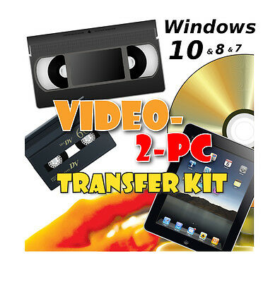 Capture VHS Video & Camcorder Hi8 And MiniDV To PC / DVD On Windows 10, 8 & 7 • 39.95£