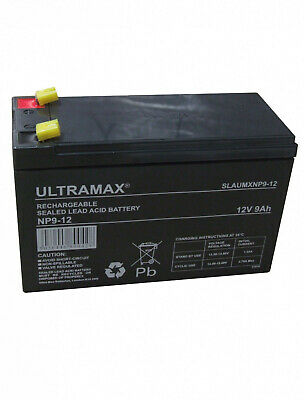 NP9-12 12v 9Ah Ultra Max Lead Acid Rechargeable Battery NP7-12, NP6-12, ES7-12 • 19.50£
