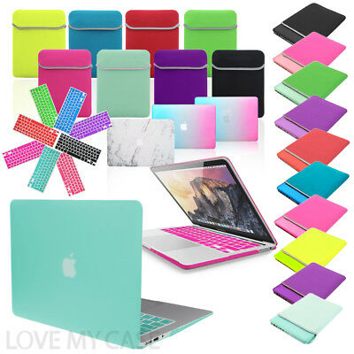 BUNDLE Rubberized HARD Case, KEYBOARD Cover & NEOPRENE Sleeve For Apple Macbook • 9.95£