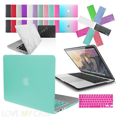 Rubberized Hard Case Cover With Keyboard Skin For Apple MacBook Air, Pro, Retina • 7.95£