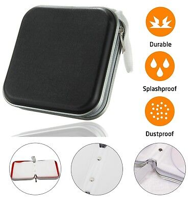 40 CD DVD Carry Case Disc Storage Holder CD Sleeve Wallet Ideal For In Car BLACK • 4.69£