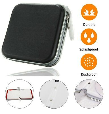 CD DVD Carry Case Disc Storage Holder CD Sleeve Wallet Ideal For In Car BLACK • 4.69£