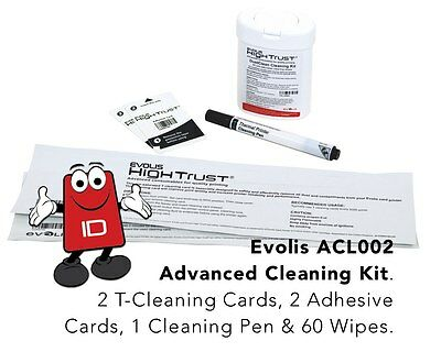 Evolis High Trust ACL002 Cleaning Kit For Evolis Zenius, Primacy & Elypso • 33.57£