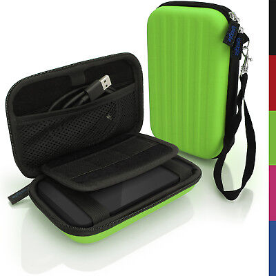 Green Hard Case Cover Pouch For Portable External Hard Drive 142 X 80.6 X 21.6mm • 8.99£